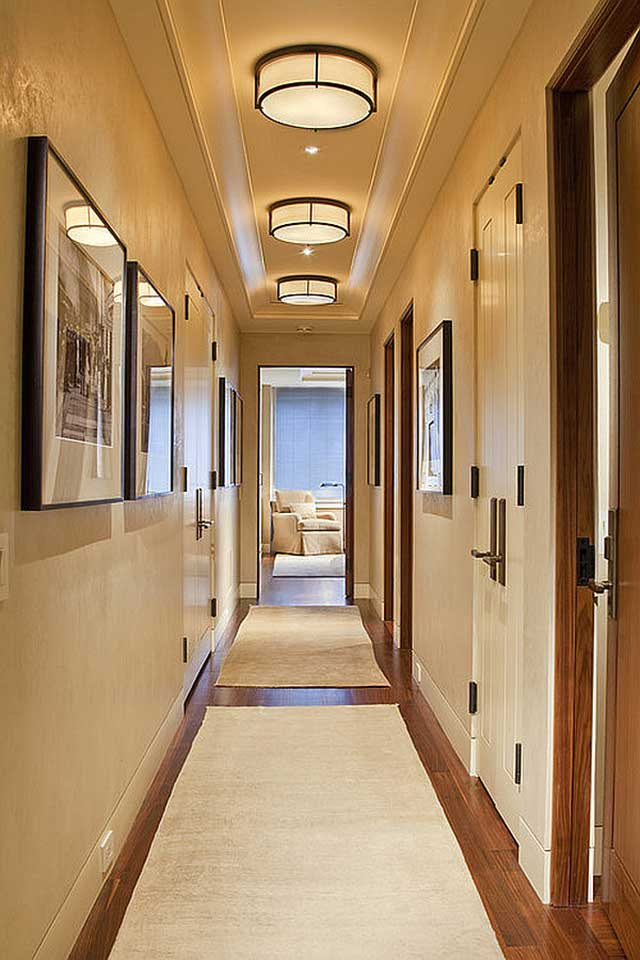 Дизайн длинный коридор фото