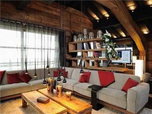 Дизайн интерьера в стиле шале.
