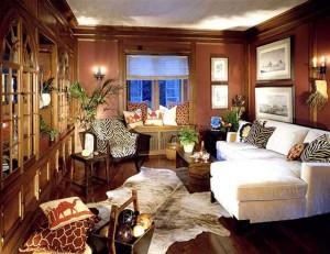Дизайн интерьера гостиной в египетском стиле.