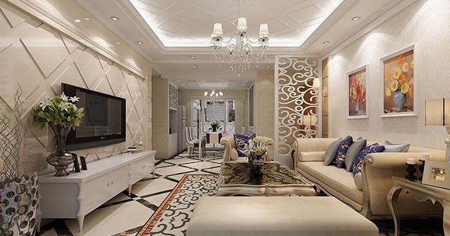 Модель стиля неоклассика для гостиной.