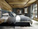 Интерьер спальни в настоящем шале