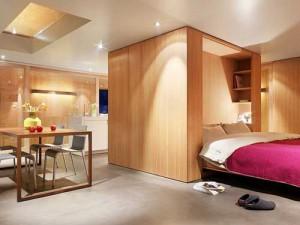 Квартира-студия с современным интерьером шале