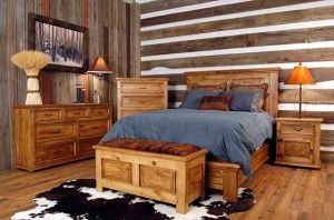 Массивная мебель для деревенского стиля на современный манер