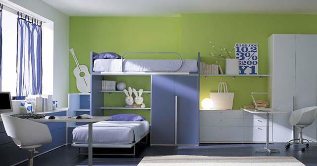 Современная детская комната в нейтральном цвете