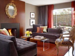 Современный интерьер гостиной в английском стиле