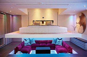 Гостиная и спальня в стиле хай-тек