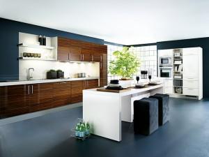 Немного простого кубизма в интерьере современной кухни