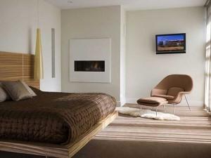 Интерьер спальни в стиле хай-тек