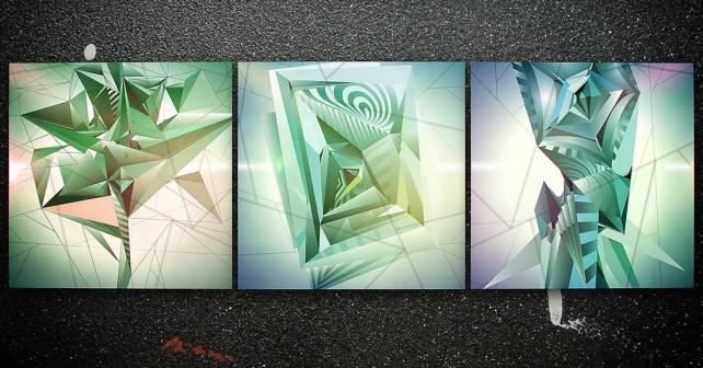 Картины триплекс (триптих).