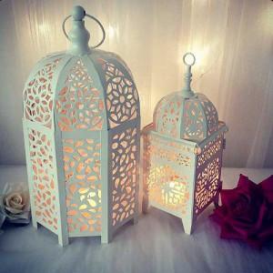 Напольные марокканские светильники в белом цвете