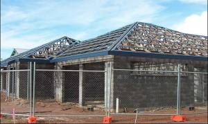 Вальмовая крыша в процессе создания