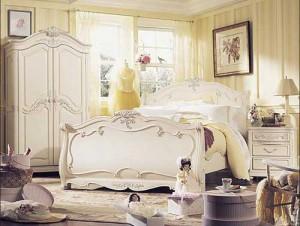 Спальня в романтическом стиле для медового месяца
