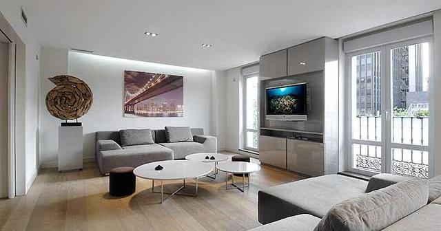 Ультрасовременная гостиная в урбанистическом исполнении