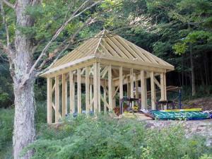 Процесс постройки шатровой вальмовой крыши