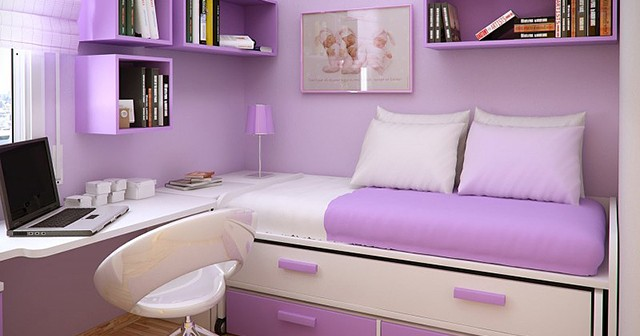 Дизайн маленькой детской комнаты для девочки.
