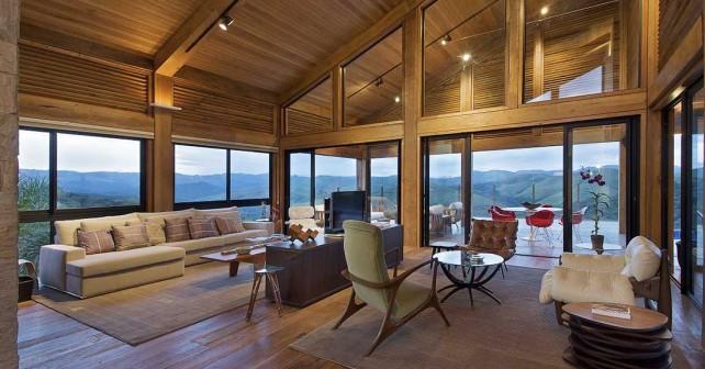 примеры внутреннего интерьера деревянного дома фото