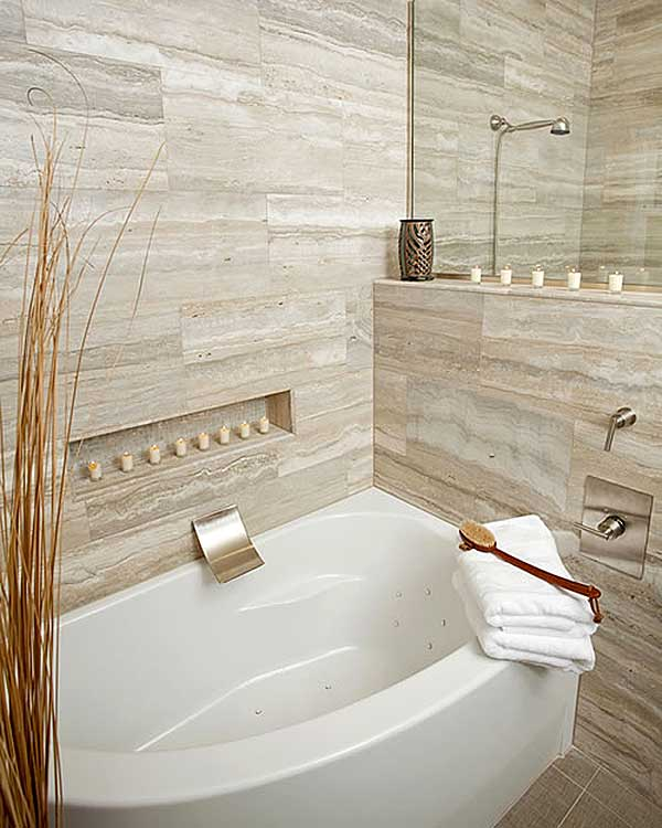 Travertine bathrooms