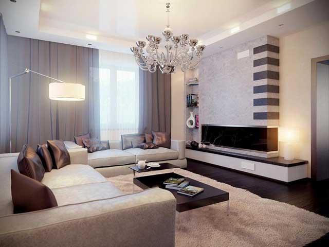 Дизайн гостиной и спальни в одной комнате.