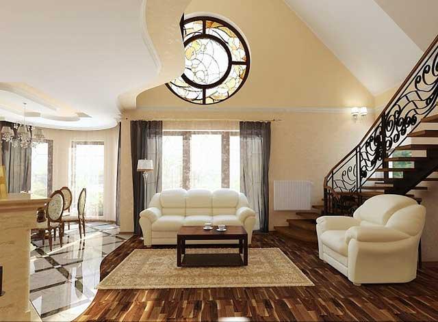 Интерьер квартиры в классическом стиле.