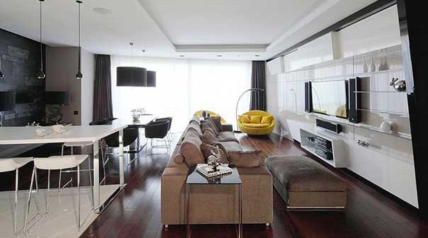 Интерьер квартиры в современном стиле.