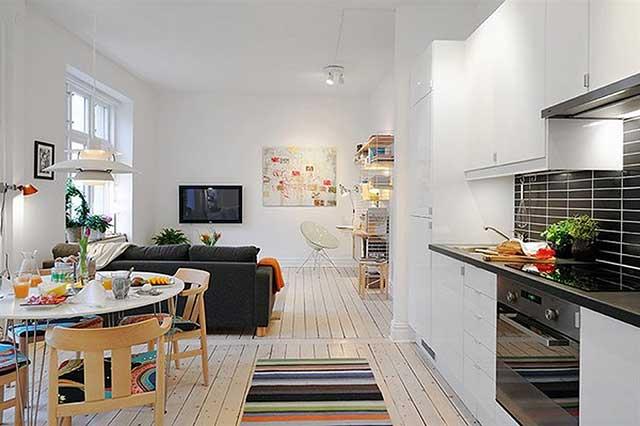 Интерьер однокомнатной квартиры 30 кв.м.