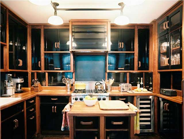 Планировка 8 кв.м кухни.