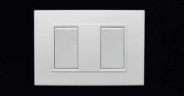 Подключение двойного выключателя.