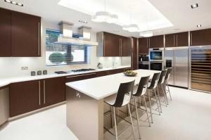 Барная стойка для современной кухни.
