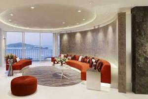 Дизайнерские проекты гостиной бывают на любой вкус, цвет и форму.