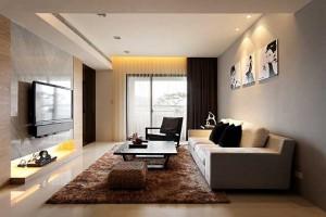Современные дизайн-проекты гостиных аппелируют к минимализму.