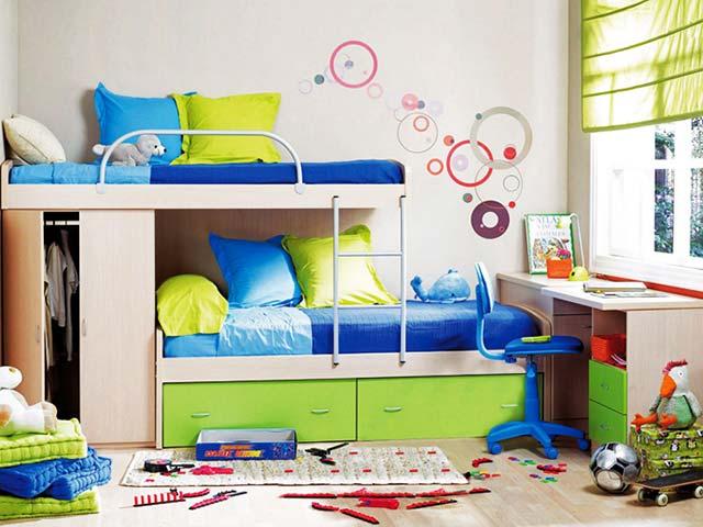 Интересная мебель для детской на двоих детей