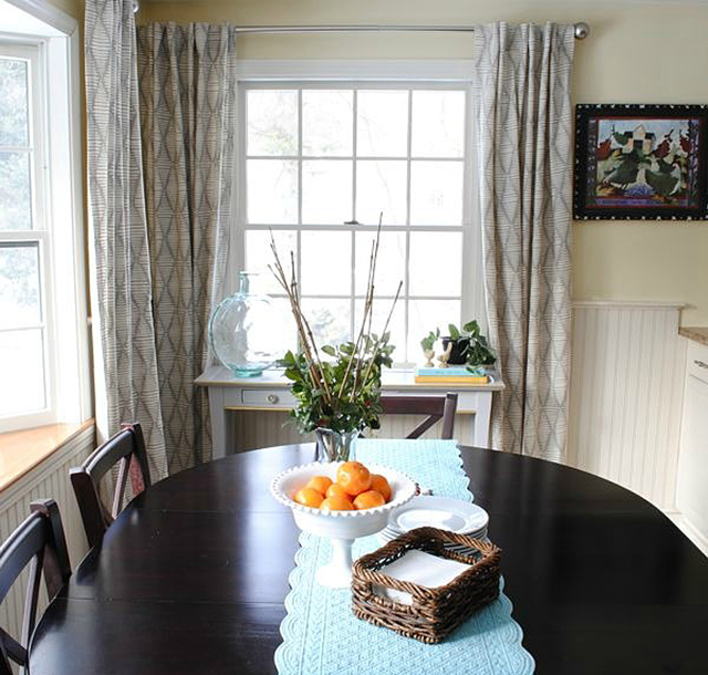 Кухонные шторы своими руками