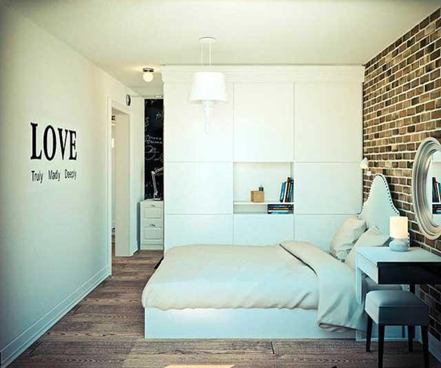 Современный дизайн спальни в хрущевке.