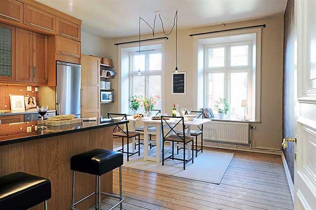 Интерьер однокомнатной квартиры-хрущевки в современном исполнении.