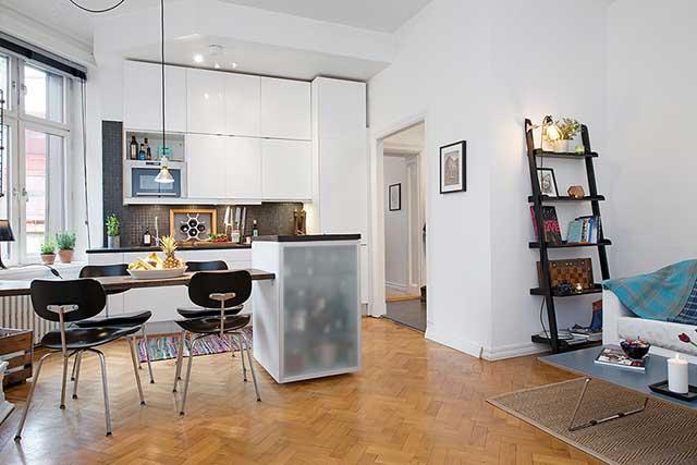 Интерьер кухни в квартире-хрущевке.