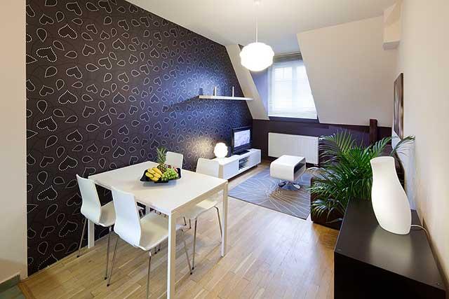 Пример современного интерьера для двухкомнатной квартиры.
